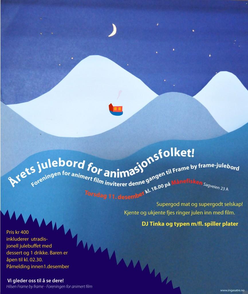 Invitasjon til julebord 2008 Foreningen for animert film